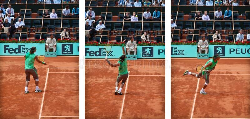 Action de service de Rafael Nadal photos stock