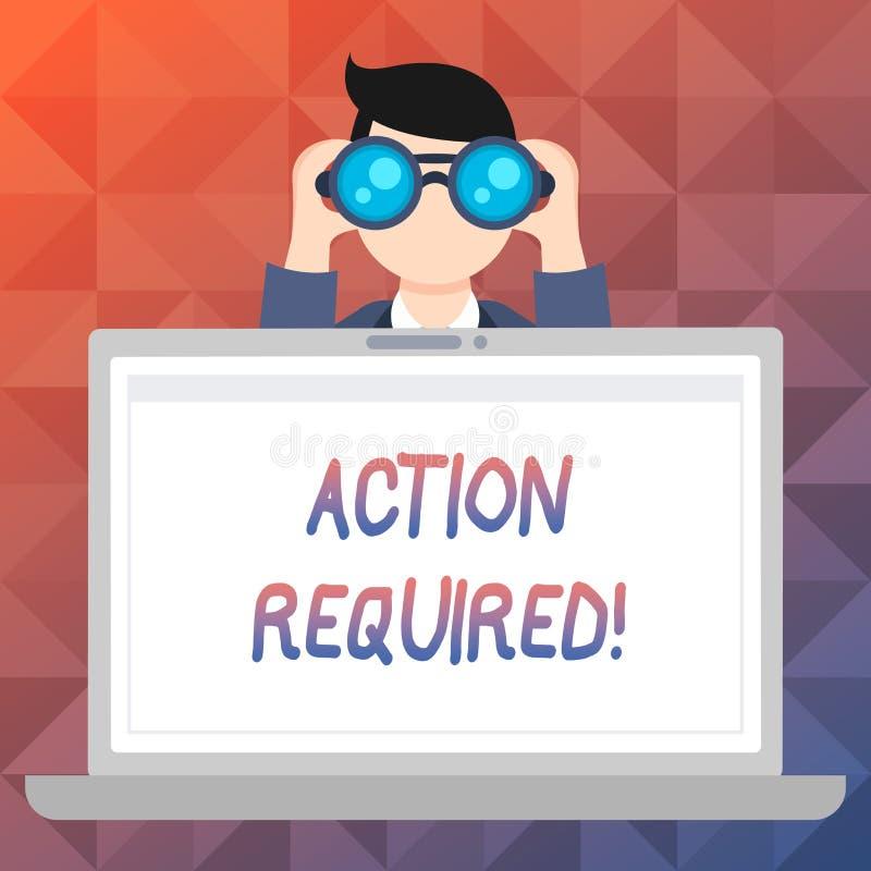 Action des textes d'écriture de Word requise Concept d'affaires pour la tâche importante rapide immédiate nécessaire d'acte impor illustration libre de droits