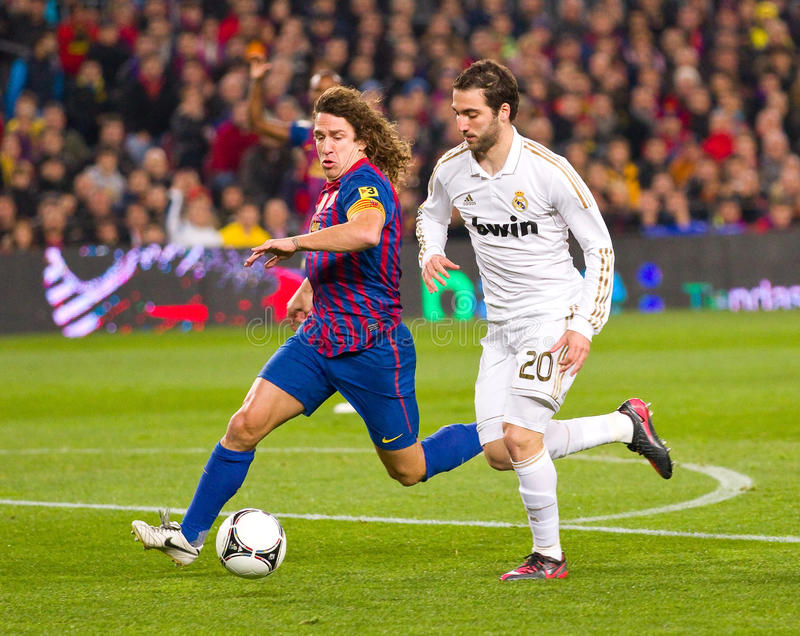 Action du football photo stock