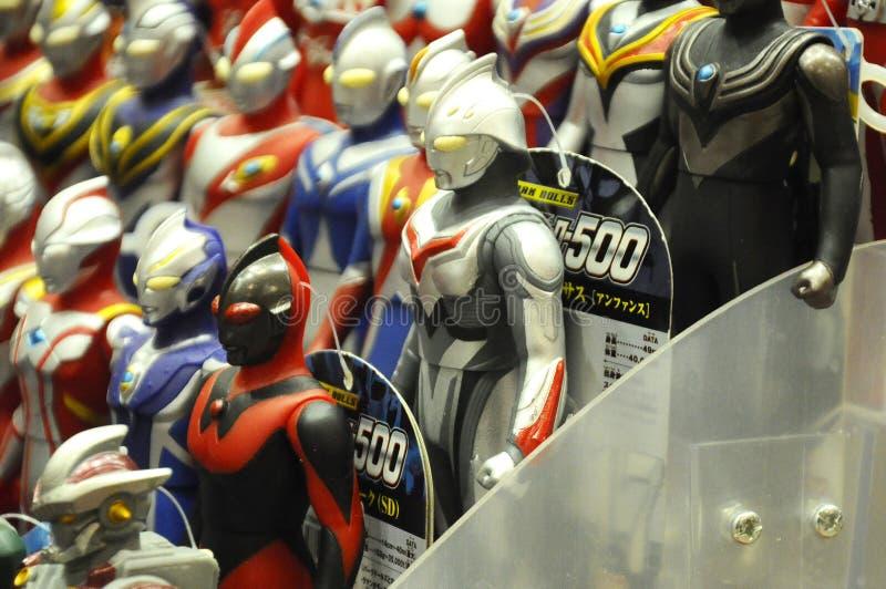 Action figure del personaggio immaginario dalla serie popolare giapponese Ultraman immagine stock