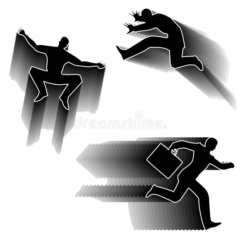 Download Action Figure Silhouettes stock illustration. Image of illustrated - 4267131