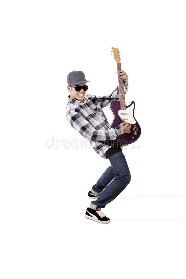 Download Action of guitarist stock photo. Image of guitar, energy - 25576982