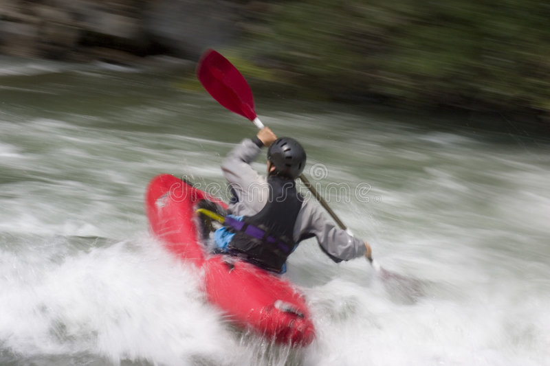 Action kayaking royalty free stock photo