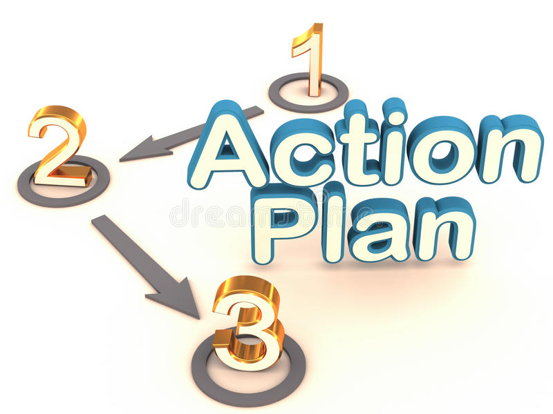 Action Plan Stock Illustration Illustration Of Steps