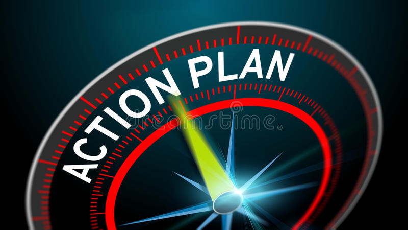 Action plan as business concept stock illustration