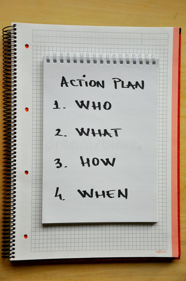 Free Action Plan Concept Stock Photo - 17593540