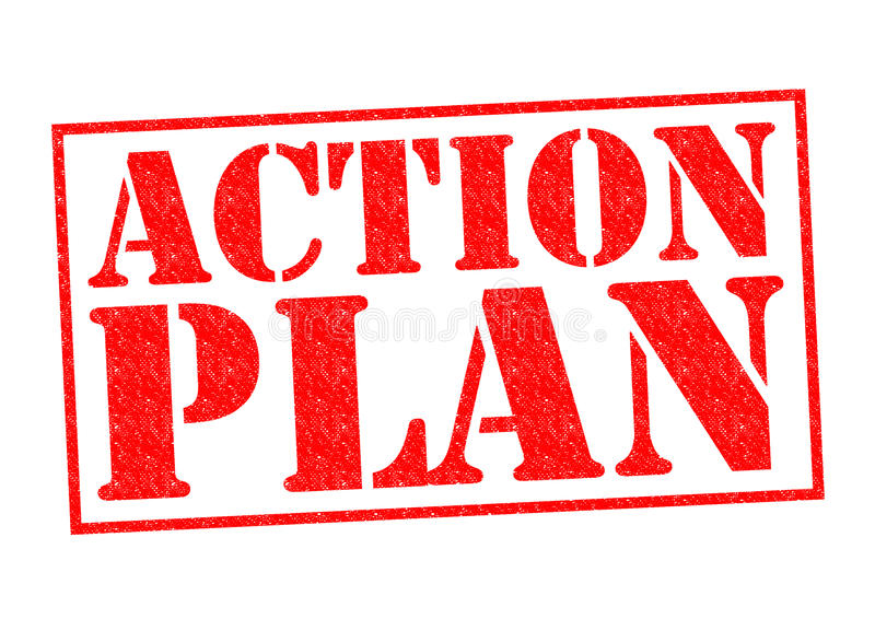 ACTION PLAN royalty free illustration
