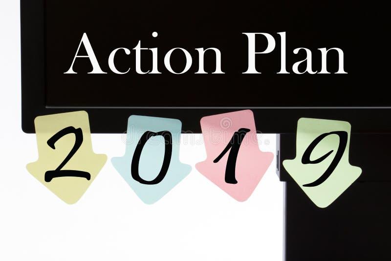Action Plan 2019 stock image