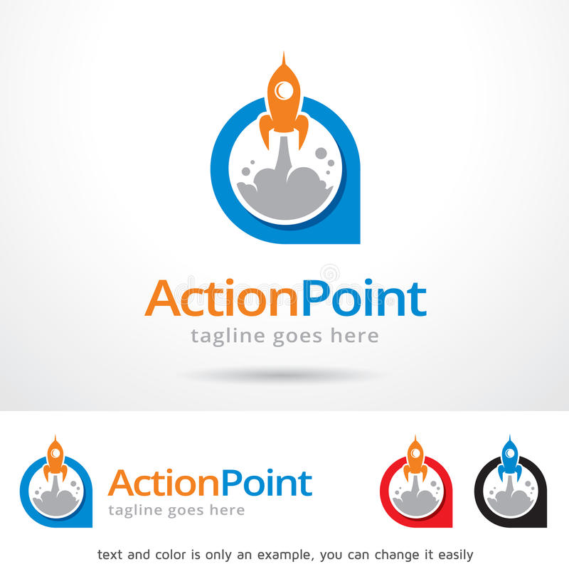 Action Point Logo Template Design Vector. This design suitable for logo or icon. Color and text can be changed easily stock illustration