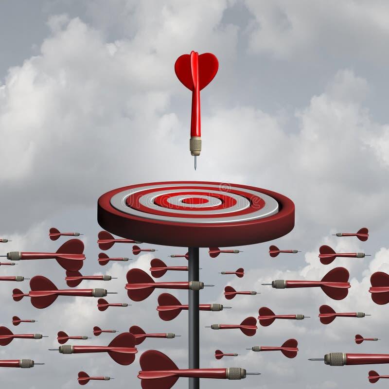 Action stratégique de pensée adaptative illustration libre de droits