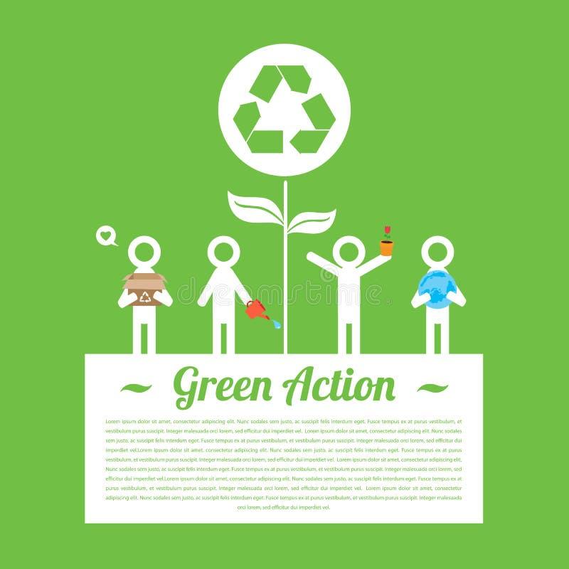 Action verte infographic illustration libre de droits