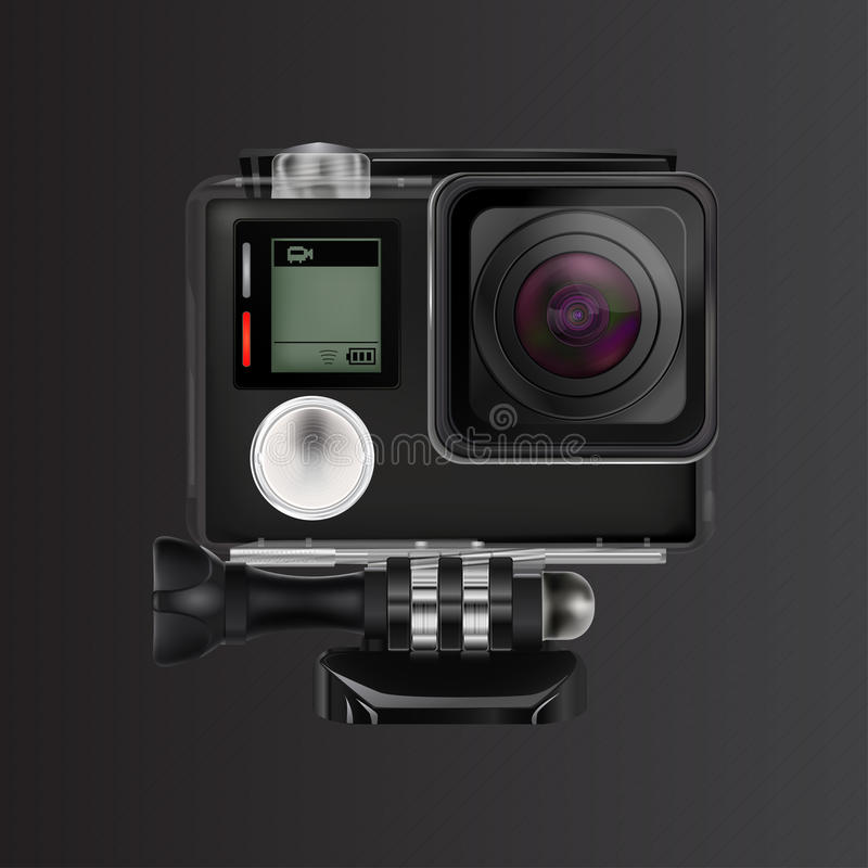 Action video camera royalty free stock photos