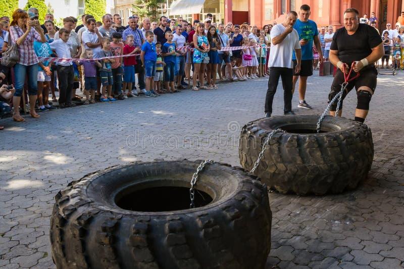Actionnez le ` 2016 carpathien d'ours de ` de tournoi dans Uzhgorod photos libres de droits