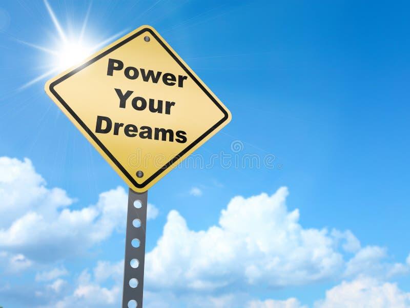 Actionnez votre signe de rêves illustration de vecteur