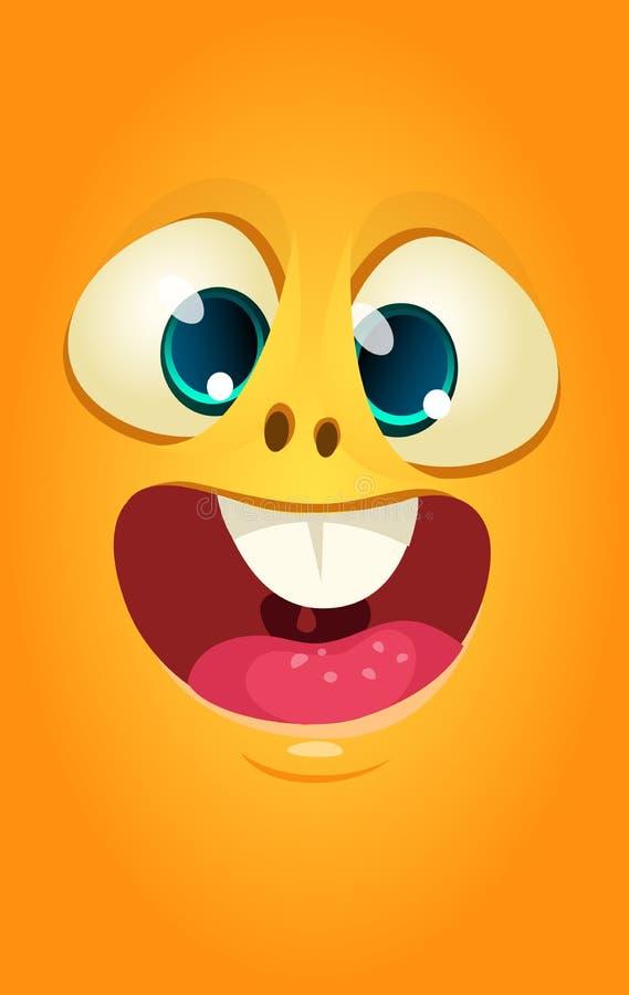 Actions étrangères d'illustration d'avatar de créature de bande dessinée de visage Conception d'impression pour des T-shirts illustration de vecteur