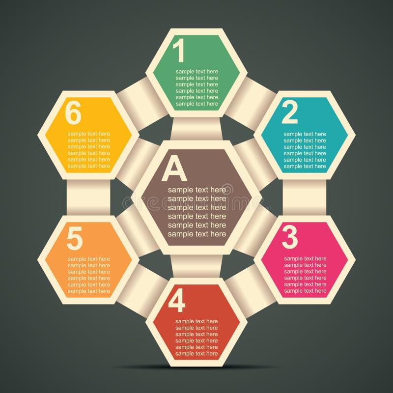 Rétro Infographics illustration de vecteur