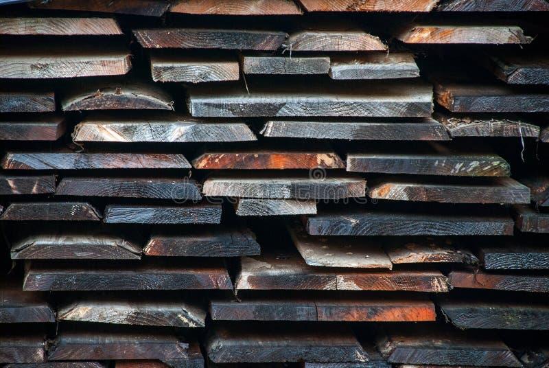 Actions d'usine et panneau en bois de bois de charpente photographie stock libre de droits