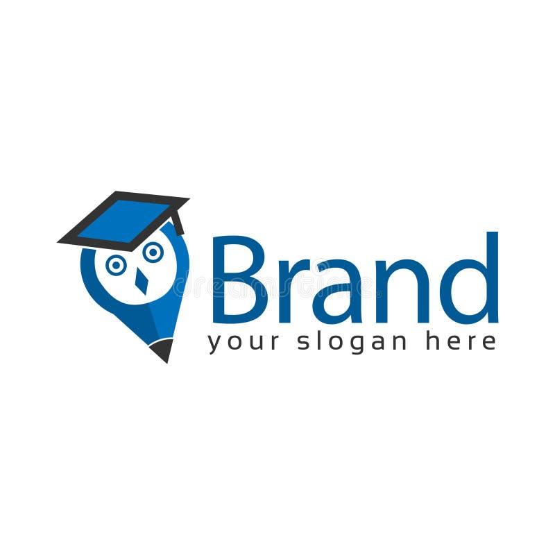 Actions de logo de hibou de chercheur Illustration de Logo Vector illustration de vecteur