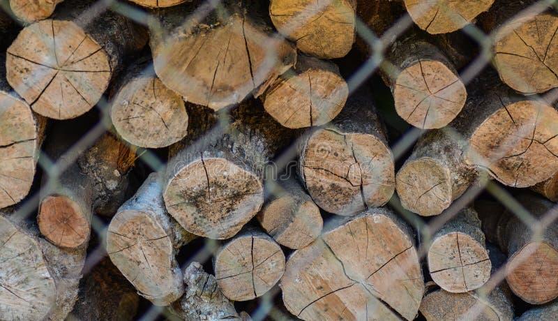 Actions en bois du feu pour l'hiver photo stock