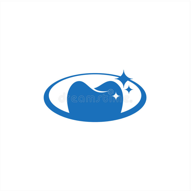 Actions ovales dentaires abstraites de vecteur d'icône de soin illustration stock