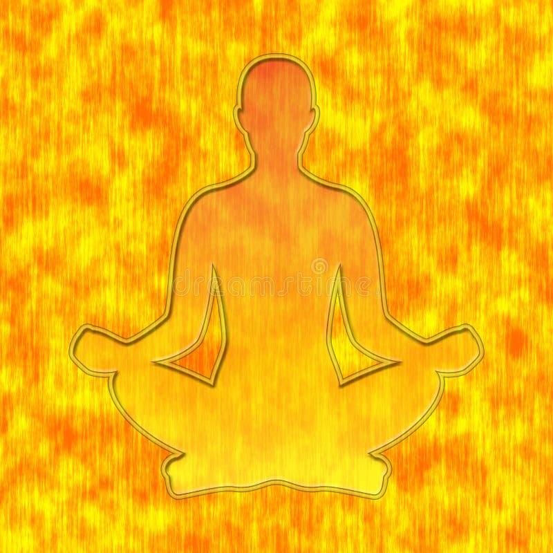 Actitud de la yoga ilustración del vector