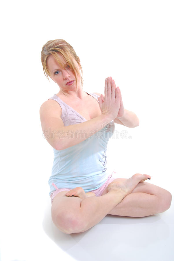 Actitud de la yoga imágenes de archivo libres de regalías