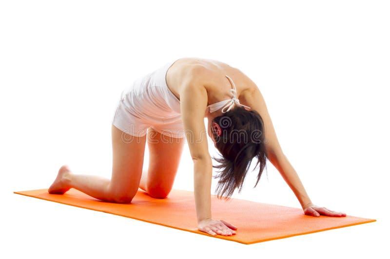 Actitud de la yoga de Marjaryasana fotos de archivo libres de regalías