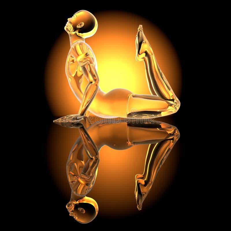 Actitud de la yoga - rey Cobra fotos de archivo libres de regalías