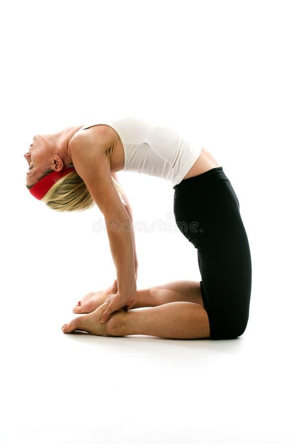 Actitud Del Camello De La Yoga Imagenes de archivo
