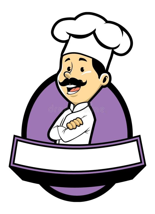Actitud del cocinero en brazo cruzado libre illustration