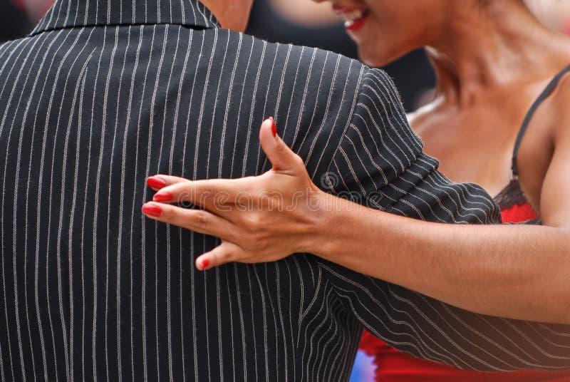 Actitud del tango fotografía de archivo libre de regalías
