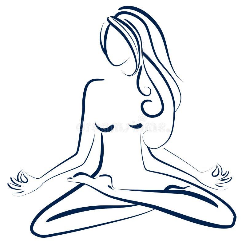 Actitud del zen ilustración del vector