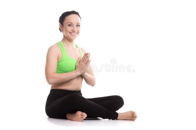 Actitud fácil de la yoga fotos de archivo libres de regalías