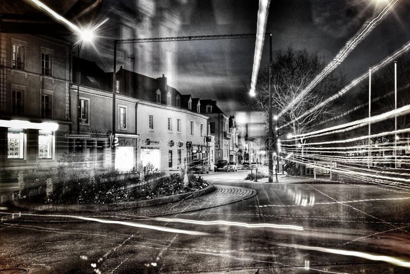 Actitud larga en una ciudad francesa fotografía de archivo