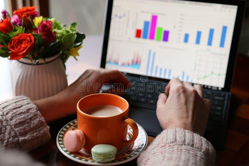 Activación con café durante el trabajo foto de archivo