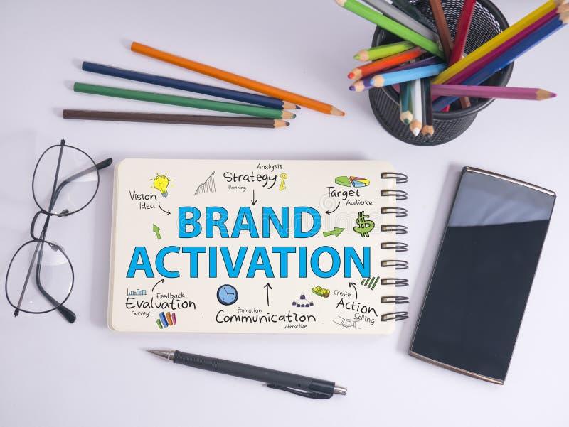 Activación de la marca Concepto de la tipografía de las palabras del márketing de negocio fotografía de archivo libre de regalías