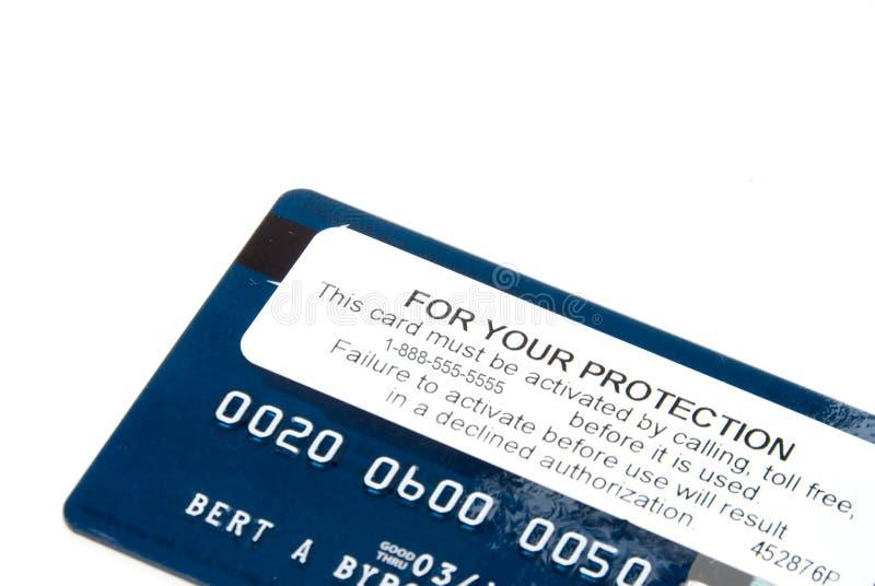 Activación de la tarjeta de crédito imagen de archivo libre de regalías