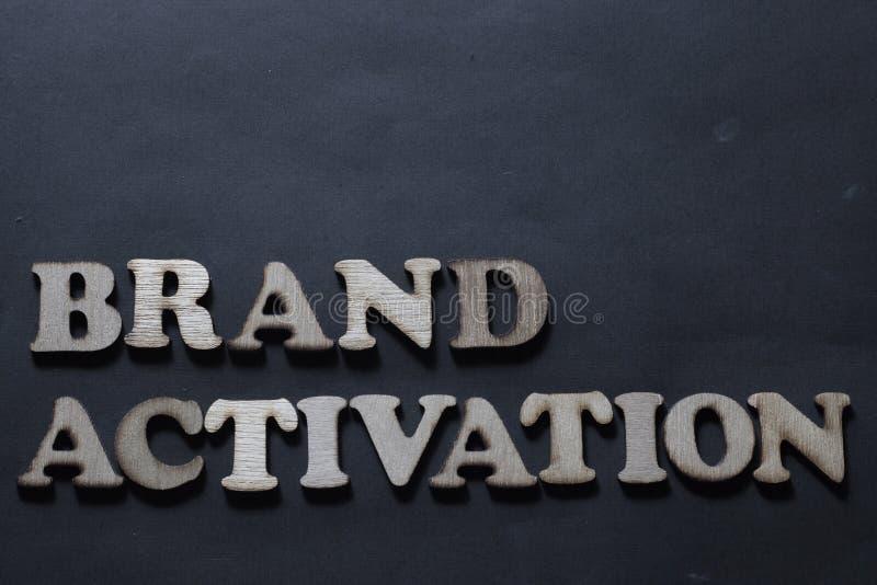 Activaci?n de la marca Concepto de la tipograf?a de las palabras del m?rketing de negocio ilustración del vector