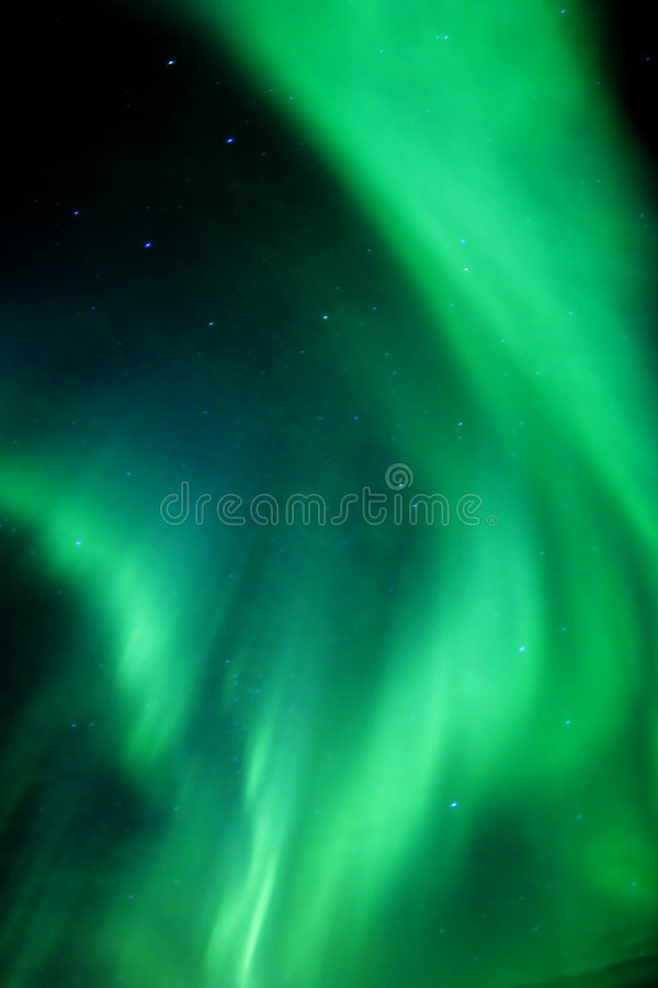 Active aurora royalty free stock photography