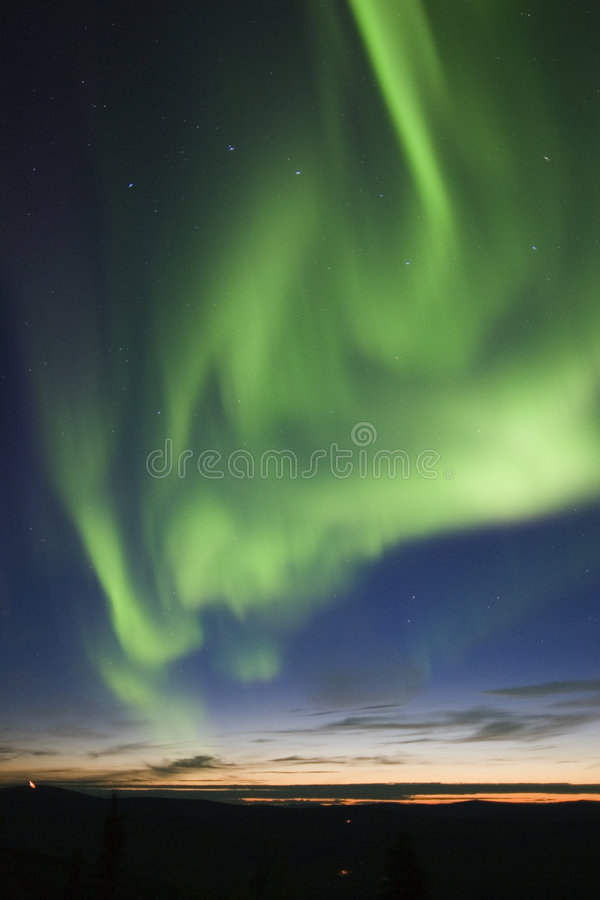 Active Aurora And Big Dipper Royalty Free Stock Photo