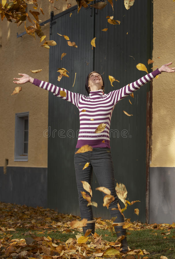 Active In Autumn Stock Photography