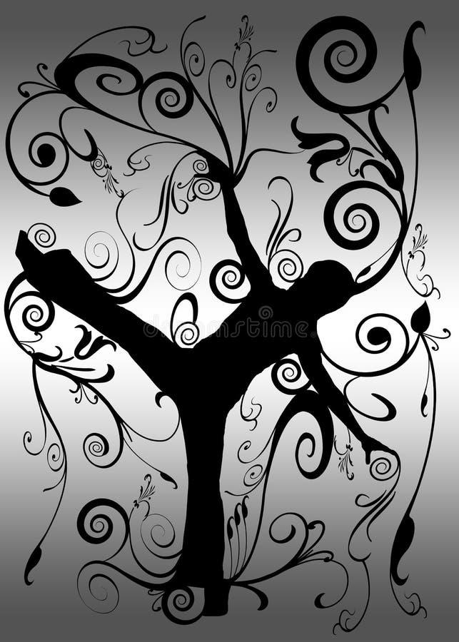 active black leisure silhouette white ελεύθερη απεικόνιση δικαιώματος