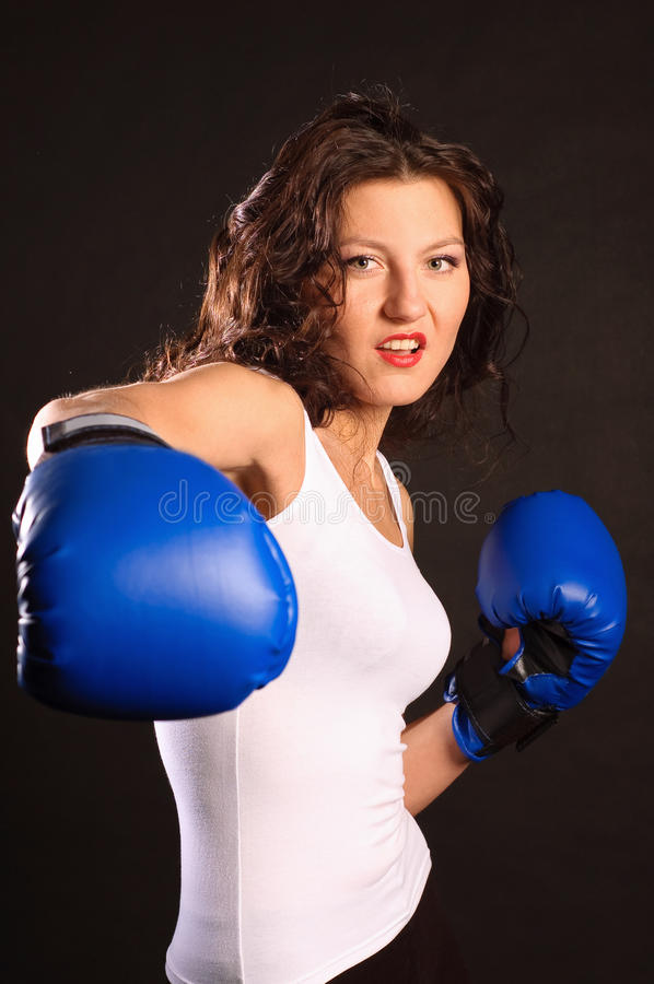 Download Active boxer. stock photo. Image of background, adult - 18813172
