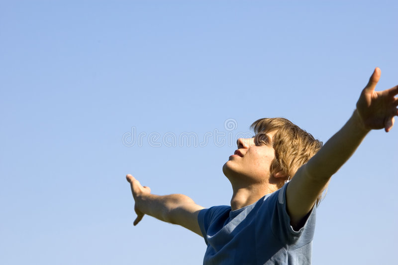 Download Active Boy Showing Happiness Stock Image - Image: 5601433