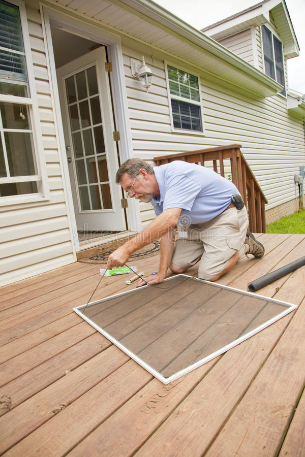 Download Active Contractor Doing Repairs Stock Image - Image: 10247489