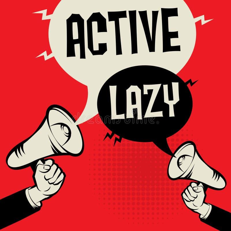 Active contre paresseux illustration libre de droits