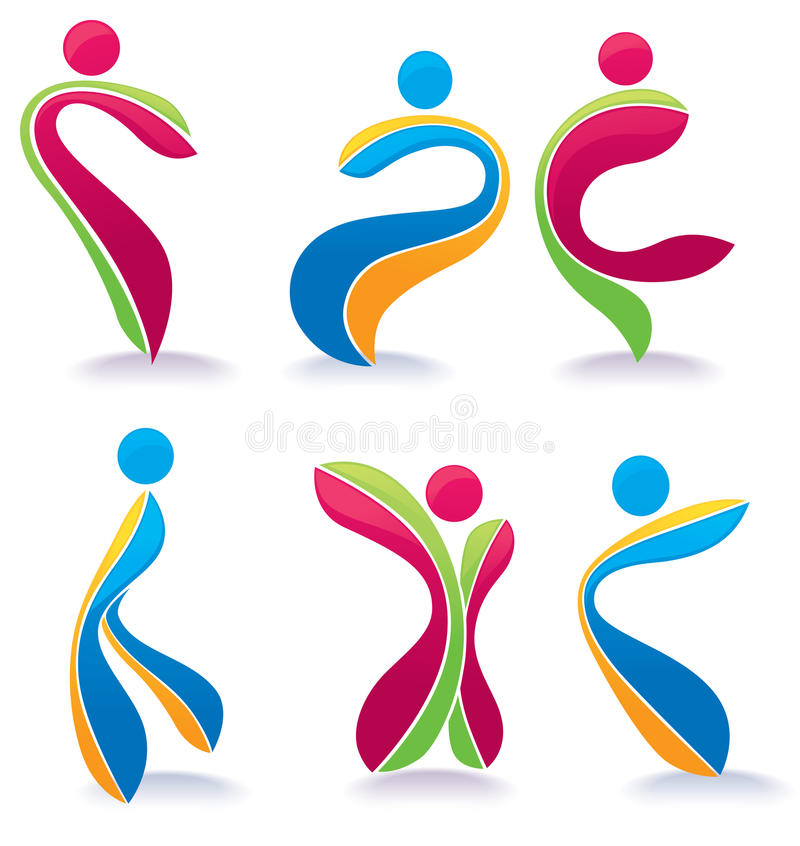 Active Dancing Bright People Stock Photography