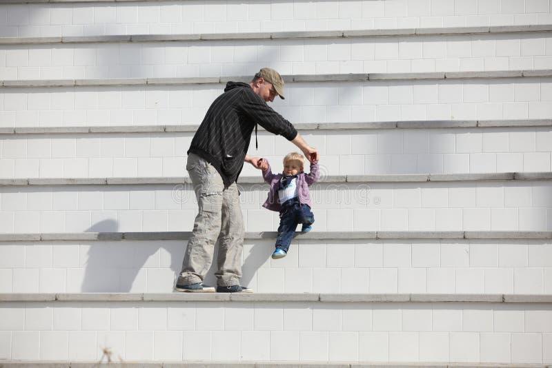 Active fatherhood royalty free stock photography