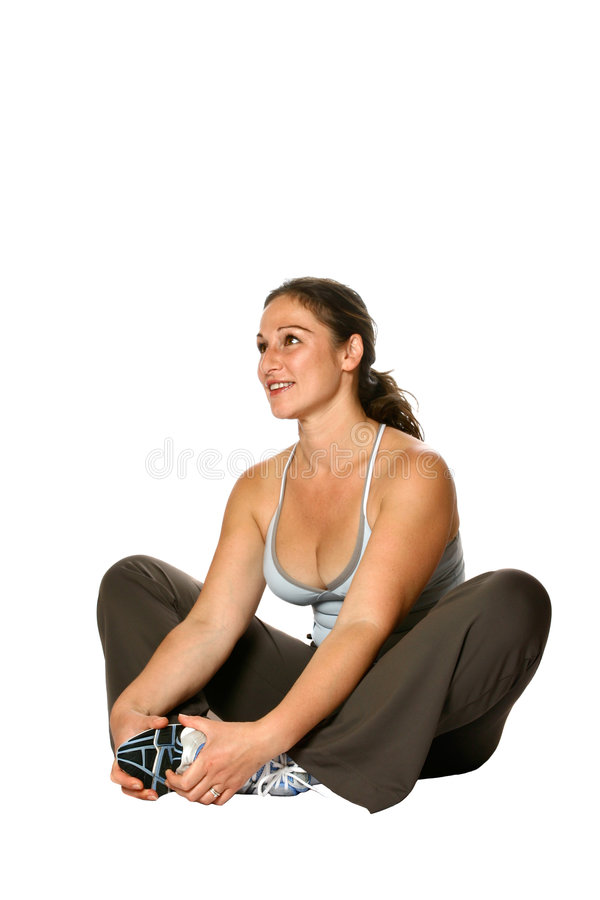 Download Active Female, Stretching . Stock Image - Image: 2599219