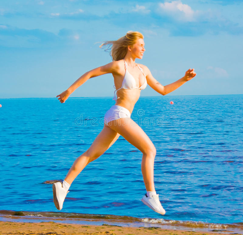 Download Active girl running stock image. Image of girl, outdoor - 10323983